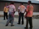 Men, Holi, India, colors, Delhi