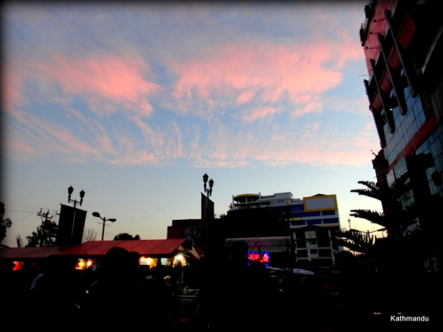 Evening Sky as seen from  Civil Mall #Kathmandu