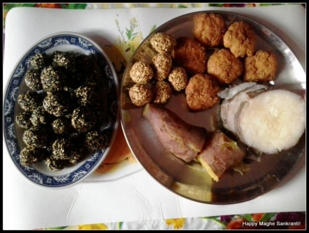 Til ko laddu, Tarul as consumed in Makar Sankranti, Nepal