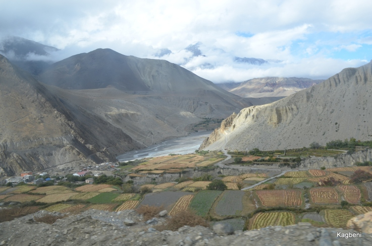 Kagbeni, as seen on the way to Muktinath