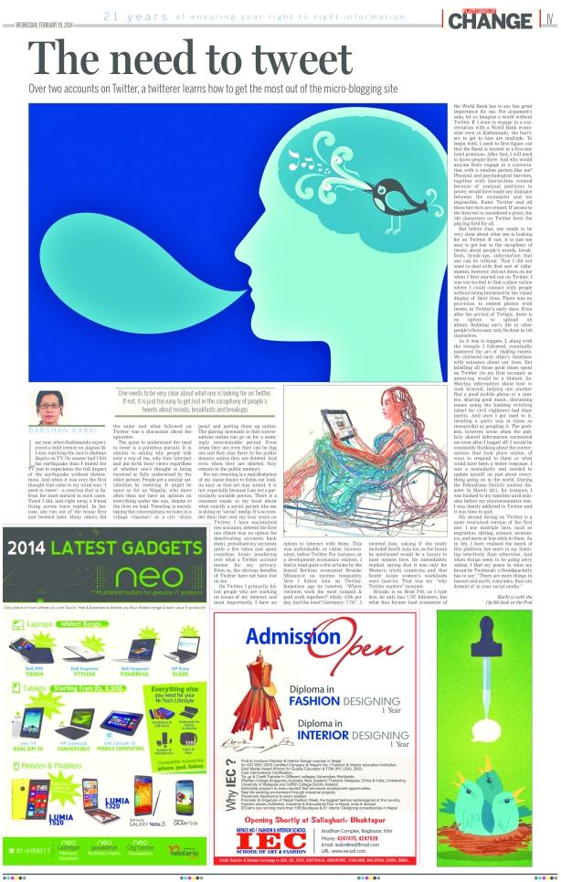 Need to Tweet_Kathmandu Post